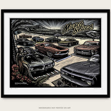 "Load image into Gallery viewer, Original Muscle Car Art ""Muscle Beach"""