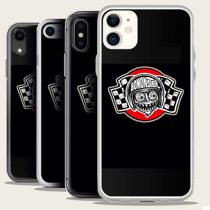 bomonster avatar flag logo on iphone case