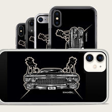 Load image into Gallery viewer, 1960 cadillac and palm trees iphone case by bomonster