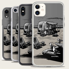 Load image into Gallery viewer, vintage traler on beach iphone case by bomonster