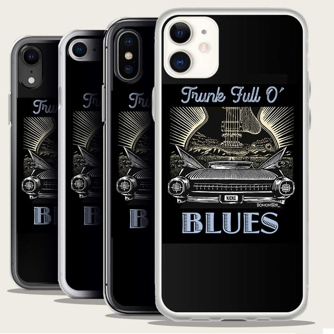 59 cadillac and blues guitar iphone case by bomonster