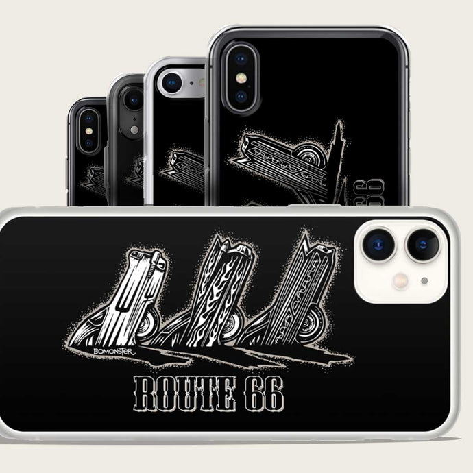 route 66 cadillac ranch iphone case by bomonster