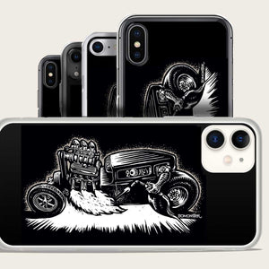 monster hot driver lights wekding torch with motor flame iphone case