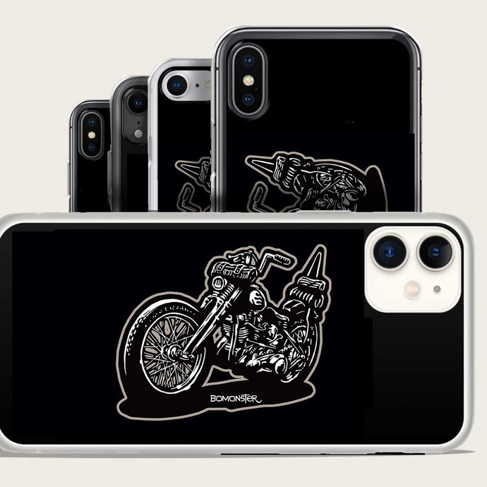Harley chopper iphone case by bomonster