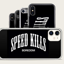 Load image into Gallery viewer, speed kills boredom iphone case by bomonster