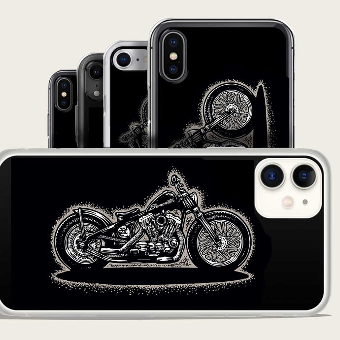 harley sportster chopper iphone case by bomonster