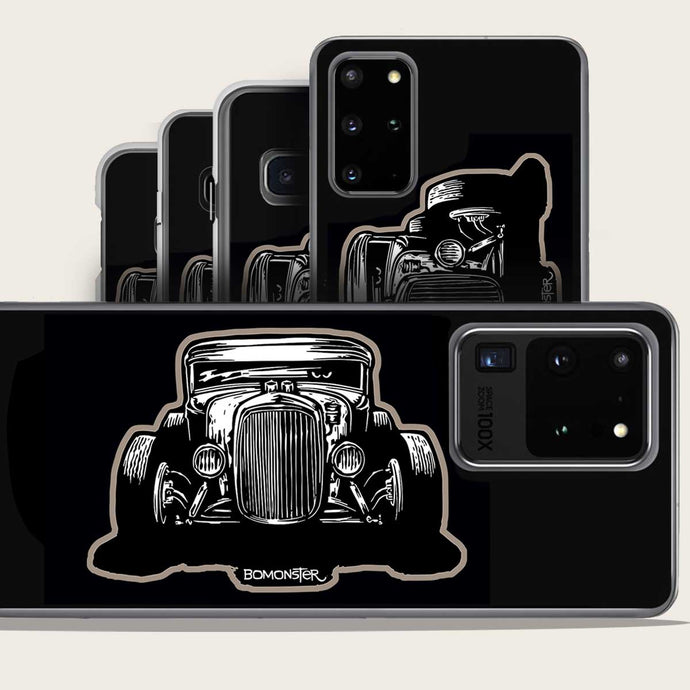 model a hot rod front on samsung galaxy phone case