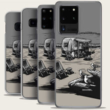 Load image into Gallery viewer, vintage trailer on beach samsung galaxy phone case