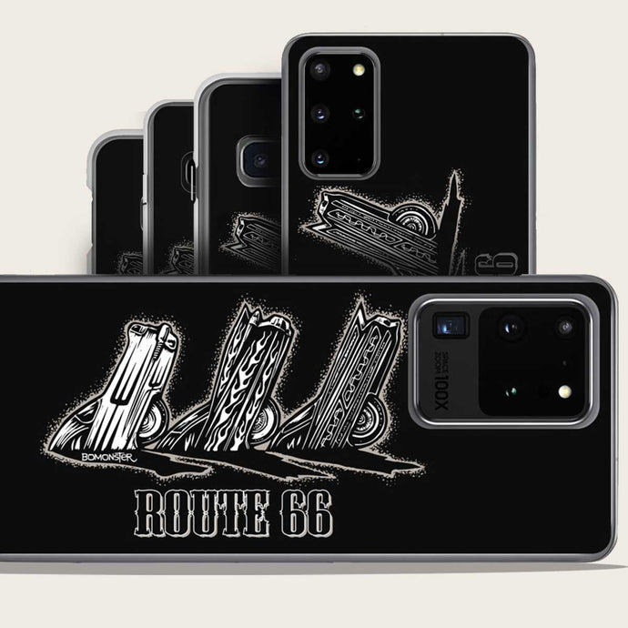 route 66 cadillac ranch samsung case by bomonster