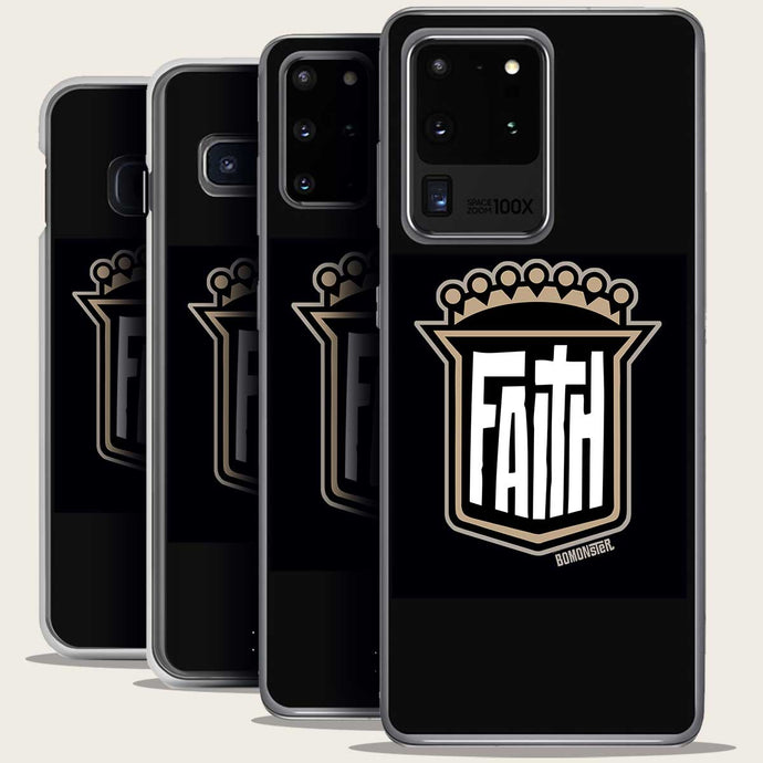 christian shield of faith design on samsung galaxy phone case