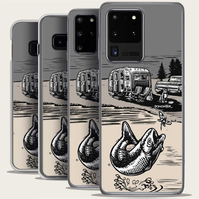 vintage trailer chevy squarebody truck bass fish samsung galaxy case