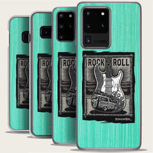 Load image into Gallery viewer, startocaster guitar and surf woody samsung phone case by bomonster