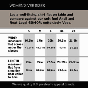 "Women's Harley Vee Neck Top ""V-Twin Heart"""