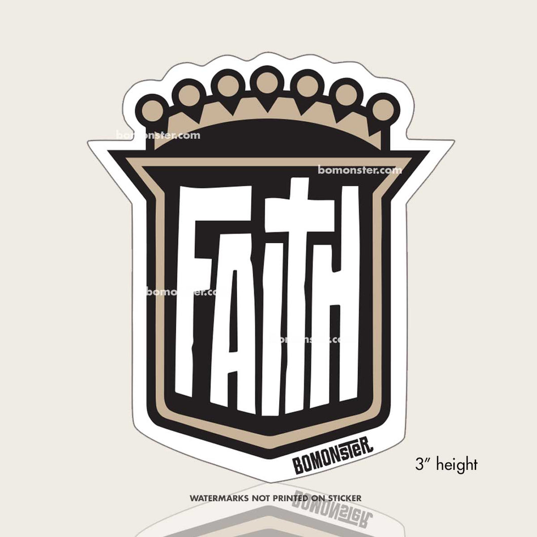shield of faith sticker by bomonster