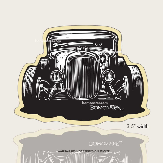 model a hot rod sticker by bomonster