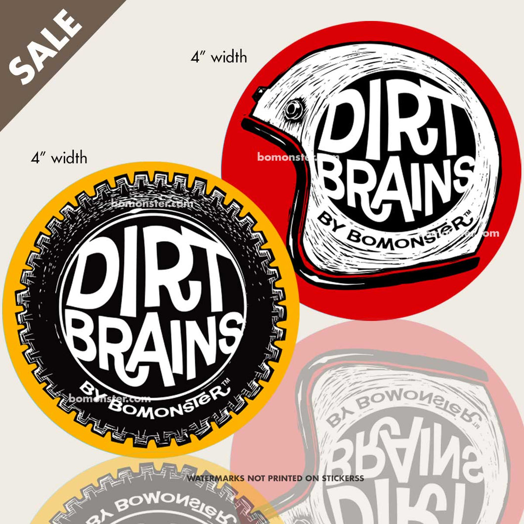 dirt bike stickers helmet and knobby tire