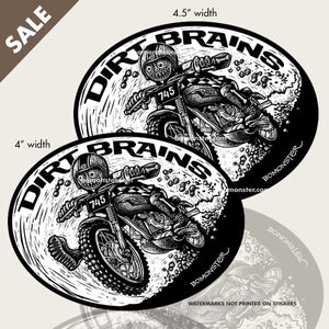monster triumph desert sled dirt bike stickers