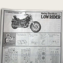 Load image into Gallery viewer, Harley-Davidson FXS Low Rider Large Scale Model Kit