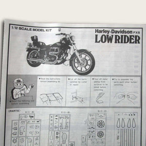 Harley-Davidson FXS Low Rider Large Scale Model Kit