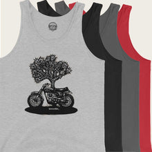 Load image into Gallery viewer, vintage triumph desert sled tank top by bomonster