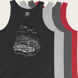"Men's Comfy Tank Top ""Detroit Smoke II"""