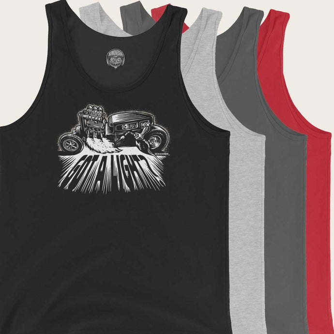 hot rod monster lighting welding torch tank top by bomonster