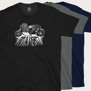 hot rod monster lighting welding torch tee by bomonster
