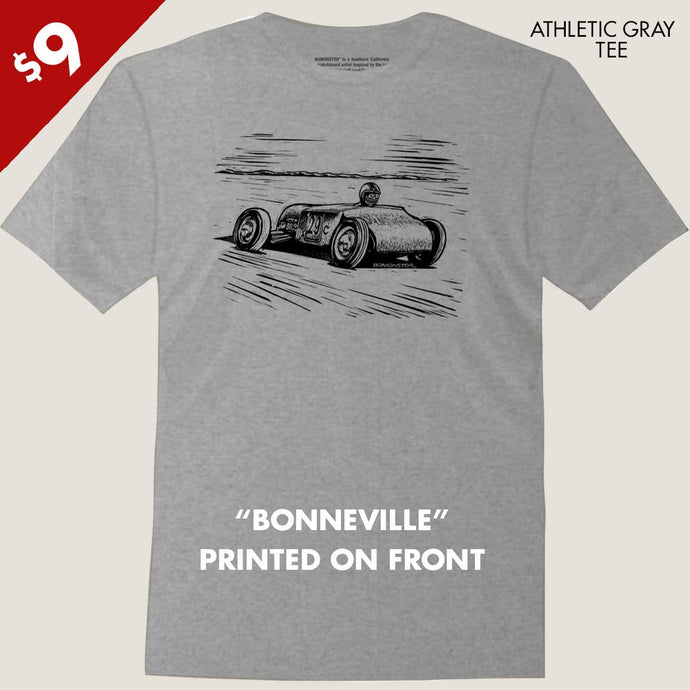 vintage hot rod bonneville racer tee by bomonster