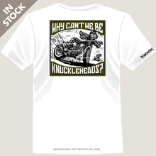 Load image into Gallery viewer, harley knucklehead rider on flat track motorcycle