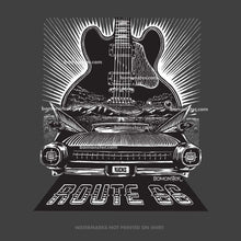 Load image into Gallery viewer, BB King's blues guitar Lucille and a 1959 Cadillac on Route 66 by BOMONSTER