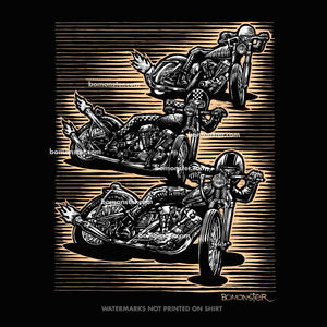 "Men's Harley T-Shirt ""Triple Threat"""