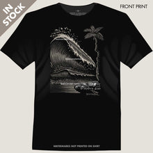 Load image into Gallery viewer, vw bus bug and tsunami wave tee by bomonster