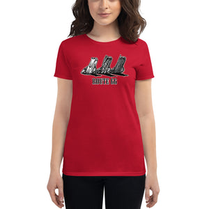 "Women's Fashion Fit Tee ""Route 66 Cadillacs"""