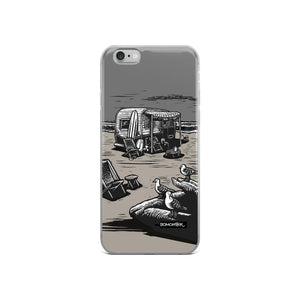 vintage trailer at beach iphone case by bomonster
