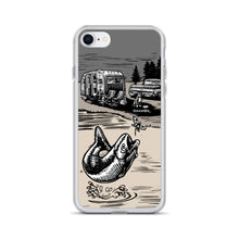 "Load image into Gallery viewer, Vintage Trailer ""Fish Story"" iPhone Case"