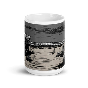 Vintage Beach Trailer Ceramic Mug