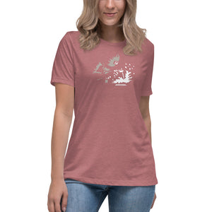 "Women's Bella+Canvas Relaxed Tee ""Weld Sparks"""