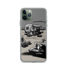 "Load image into Gallery viewer, ""Vintage Beach Trailer"" iPhone Case"