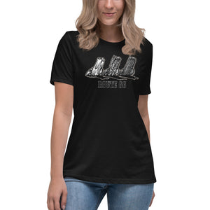 "Women's Bella+Canvas Relaxed Tee ""Route 66 Cadillacs"""