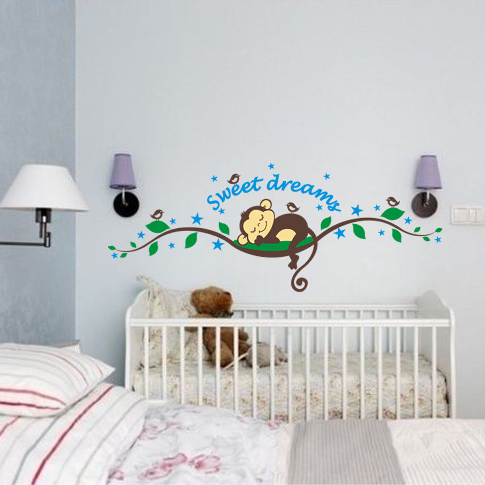 Wandtattoo Affe Sweet Dreams Kinderzimmer Dschungel