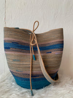 handmade naturally dyed rope basket