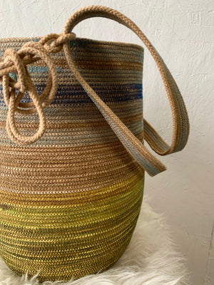 naturally dyed rope basket