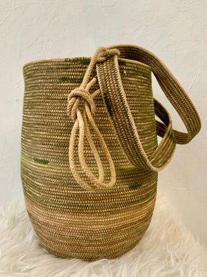 naturally dyed rope vessel