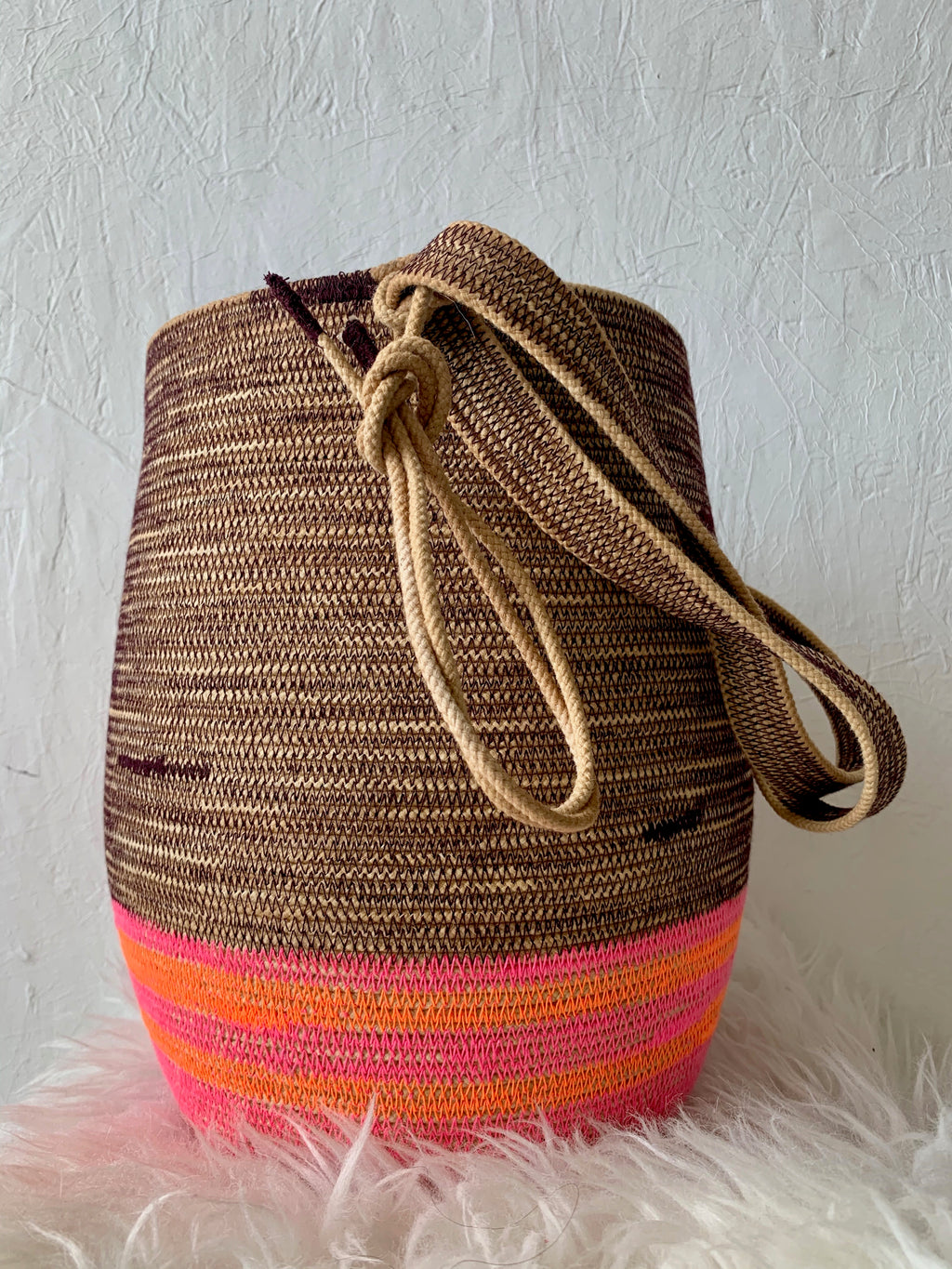 handmade basket backpack