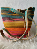 naturally dyed handmade basket