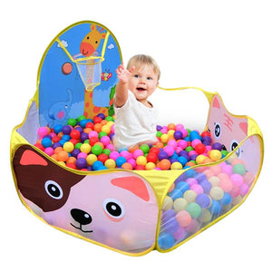 Ball Pit Pool Game Play Tent With Basketball Hoop  (Balls Sold Separately)