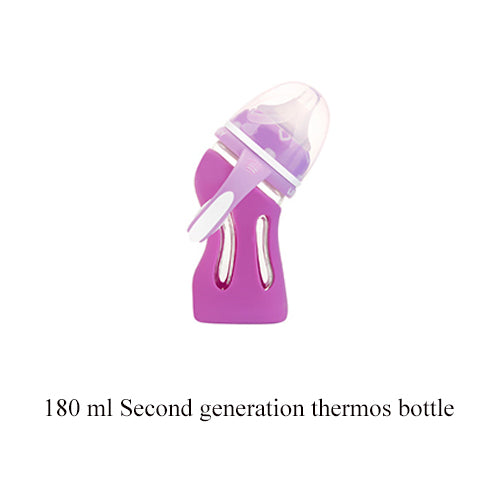 Glass Bottle - Anti-Drop Silicone - Wide Caliber - Insulation Intelligent - Temperature Control