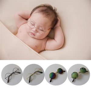 Newborn Baby Accessories - Round Glasses / Sunglasses Vintage