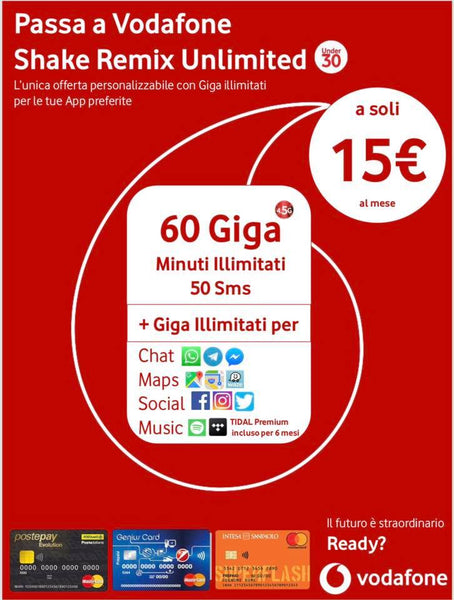VODAFONE SHAKE REMIX UNLIMITED