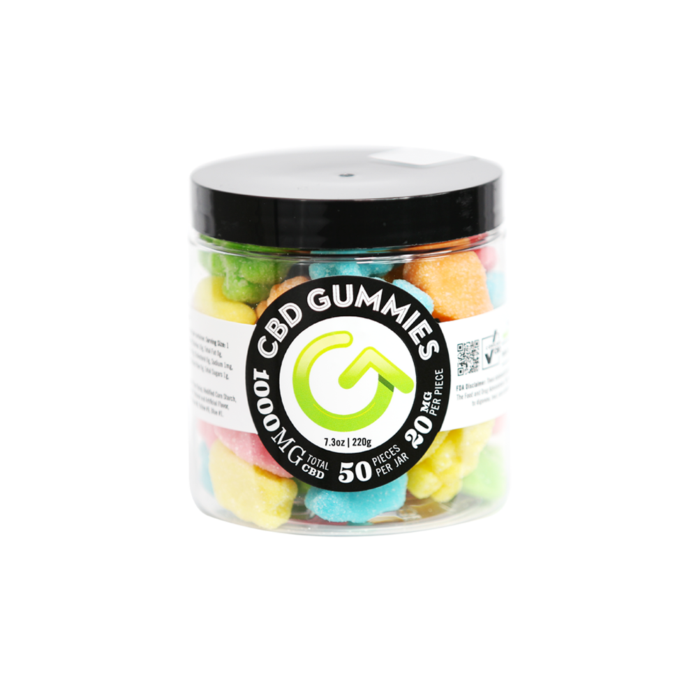 GOOD CBD 20mg Gummy Bear Jar 50ct